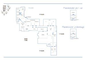 Overblik over hotellet - konferencefolder